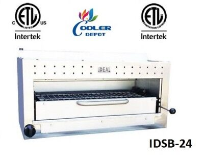 New 24 Commercial Gaspropane Salamander Broiler Made In Usa Certified Nsf