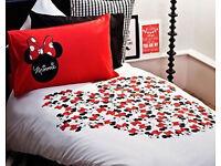 Disney Black Kids White Minnie Mouse Duvet Cover And Pillow Case Set Single