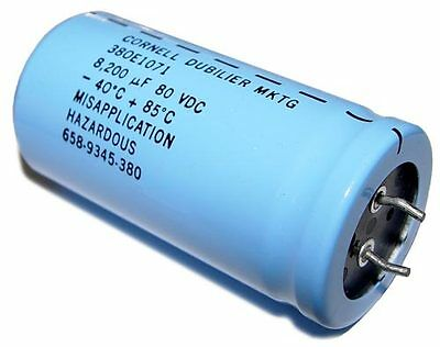 Lot Of 10 8200uf 80v Aluminum Electrolytic Snap In Capacitor Type3801071