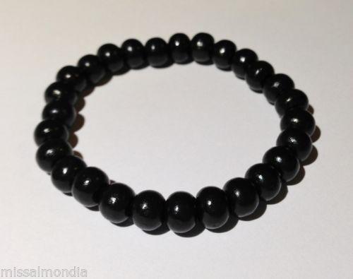 men wooden beads bracelet ebay. Black Bedroom Furniture Sets. Home Design Ideas