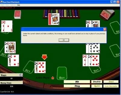 Real Deal Blackjack: Card Counting Training Software