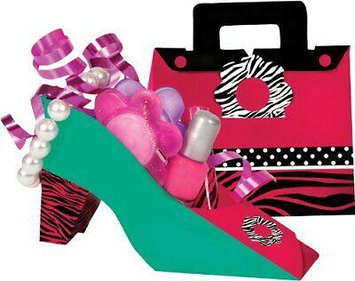 ZEBRA BOUTIQUE Party Favor Treat Box Purse High Heel Room Decorations Candy Shoe - Zebra Party Decorations