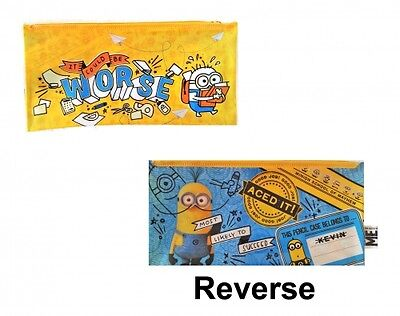 Despicable Me Minions Large Flat Pencil Case Stationery Brand New Gift