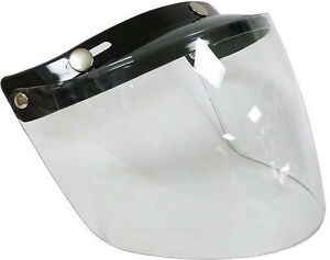 VISOR FLIP FRONT VIPER RS-04 OPEN FACE VISOR ONE SIZE FITS ALL VIPER HELMETS