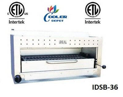 New 36 Commercial Gaspropane Salamander Broiler Made In Usa Certified Nsf