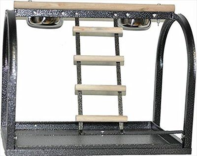 ANEC-J11BLACK-A&E Cage J11 Black Table Stand With Ladders And Cups