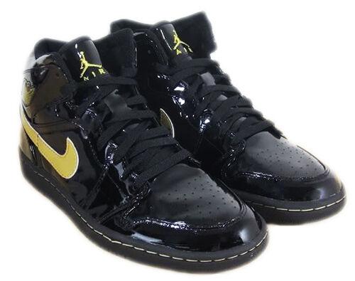 Air Jordan 1 Black Gold Patent Leather