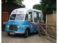 Vintage Ice cream van in full working order Commer Karrier 1962 Classic Catering Mobile Rare