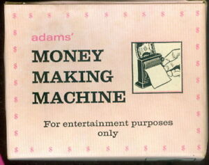 Vintage Adams Money Making Machine ~ New In Box ~ Never Removed !! Complete