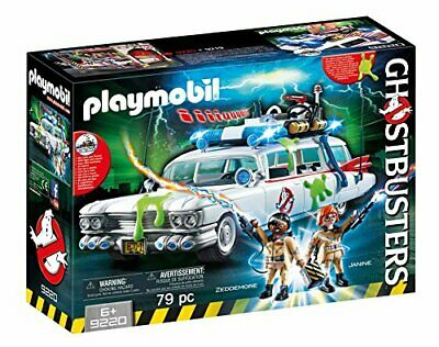 Playmobil Ghostbusters Ecto 1 Car Realistic Siren Sound Kids Activity Play Set