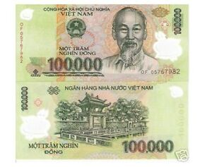 New 1 Million vietnamese dong 10 x 100,000 Bank Note US Treasury Registered