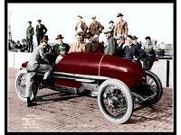 1922 Indianapolis 500 Winner Jimmy Murphy In Harley Davidson Silver Halide Photo
