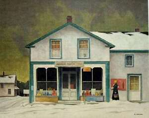 "A.J. Casson ""Annables General Store"" Litho appraised at $1150 London Ontario image 1"