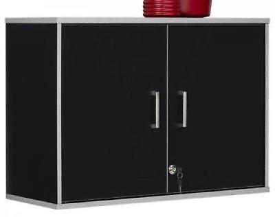 - Cabinet Wall Mount Storage Garage Shelf Kitchen Secure Shelving Organizer Black