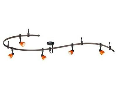 9' Dark Bronze Flexible 5 Light Track Light
