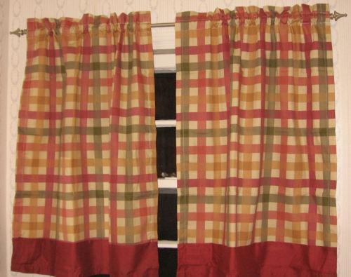 Plaid Kitchen Curtains Ebay