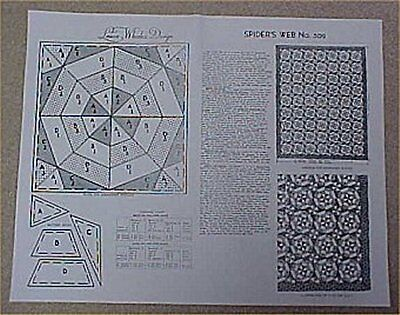 Vintage Quilt Pieced Pattern Spider Web Mail Order 1930S Graphic Design Sewing