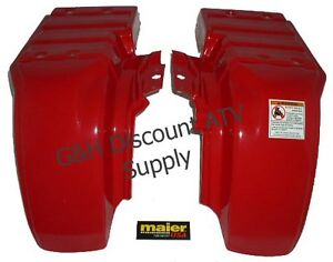 Honda-Atc-250ES-250-Big-Red-Maier-Rear-Fenders-Set-NEW