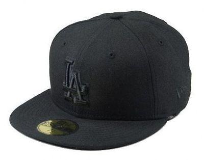 New Era 59Fifty Cap MLB Los Angeles Dodgers Black Fitted Baseball Hat 5950 Mlb 59fifty Cap