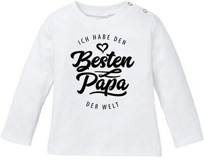 Baby Langarmshirt Babyshirt Ich habe den besten Papa der Welt Spruch Geschenk