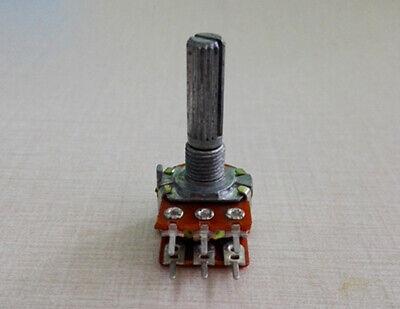 10Pcs B10K Ohm Dual Linear Taper  Rotary Potentiometer Pot 25mm Shaft 6 Pins -SH