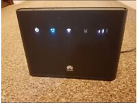 Three 2 Huawei Home-fi B310 4g Router. Internet with no landline. Ethernet port