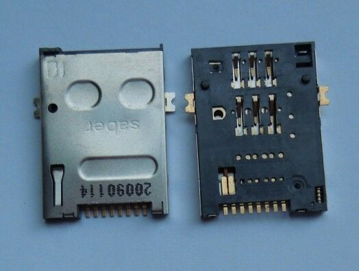 10 pcs SIM 8 pin Card Slot