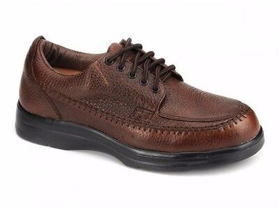 Answer2 Therapeutic Diabetic Footwear Mens Lace Casual Brown Leather Shoes 555