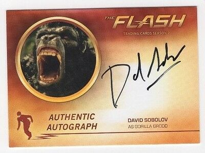 Cryptozoic The Flash Season 2 Autograph DS David Sobolov as Gorilla Grodd Auto