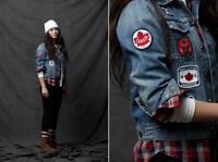 Men's  2012 TEAM CANADA Olympics Closing Ceremony Jean Jacket