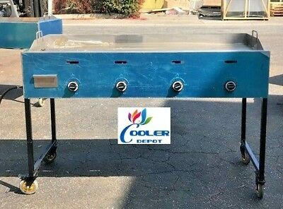 New 60 Outdoor Griddle Taco Grill Cart Propane Use Carne Asada Burgers Hot Dogs