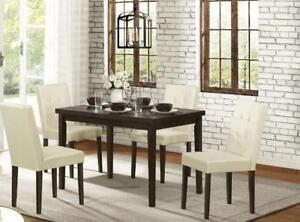 WOODEN DINING SETS WITH WHITE CHAIRS ON SALE (ND 302)