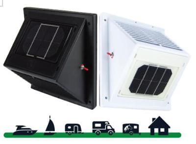 SOLAR WALL VENT FAN VENTILATOR DAY & NIGHT CARAVAN, MOBILE HOME, BOAT, GARAGE
