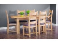 Dining table & 6 chairs - brand new