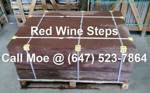Red Wine Steps Red Outdoor Steps Natural Stone Steps 4 5 6 7 8