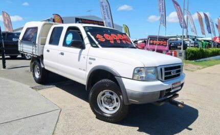 2006 Ford Courier PH (Upgrade) GL Crew Cab White 5 Speed Automatic Utility Woodridge Logan Area Preview
