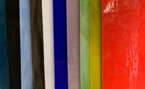 COE 96 Fusible Glass Variety Pack (10 sheets)  Free Shipping