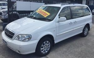 2005 Kia Carnival KV II LS LOW KLMS 7 SEATER White 5 Speed Manual Wagon Underwood Logan Area Preview