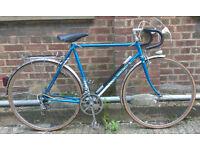 French Vintage road racing bike MOTOBECANE frame size 23inch - 12 speed, serviced WARRANTY welcome