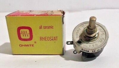 New Ohmite Rhs1k0e H Rheostat Potentiometer 25 Watt 1000 Ohms