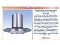 Island Cooker Hood , as new , only used for one month , 90 Cm