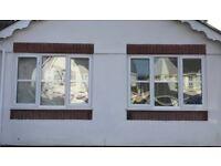 2x 1830w x 1275h Double Glazed PVC Windows