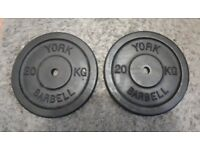 York Fitness 20kg Single Standard Cast Iron Weight x 2 £50 ono