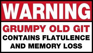 Mens-T-Shirt-Warning-Grumpy-Old-Git-Funny-Quote-Ideal-Birthday-Present-or-Gift