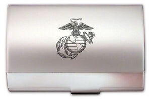 United states marine corps engraved business card case for Marine corps business cards