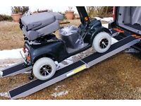 STRONG ALUMINIUM FOLDING RAMPS 7FT LONG SUIT MOBILITY ELECTRIC SCOOTERS