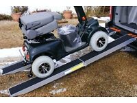 STRONG 500Kg LIGHTWEIGHT LOADING RAMPS FOR QUAD LAWNMOWER WHEELCHAIRS & ELECTRIC MOBILITY SCOOTER