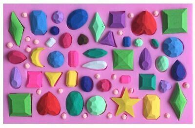Gems Jewels Assortment Silicone Mold for Fondant, Gum Paste, Chocolate, Crafts