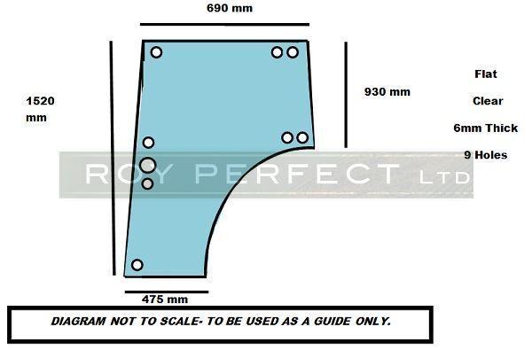 Tractor Glass Replacement : Zetor tractor door glass ebay