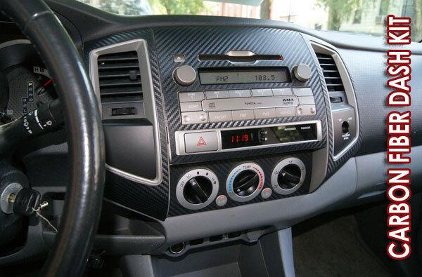 Hummer H2 03 07 Black Carbon Fiber Interior Dashboard Dash Kit Trim Parts
